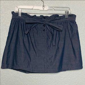 Chambray paper bag skirt